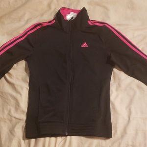 EUC black and pink Adidas zip track jacket